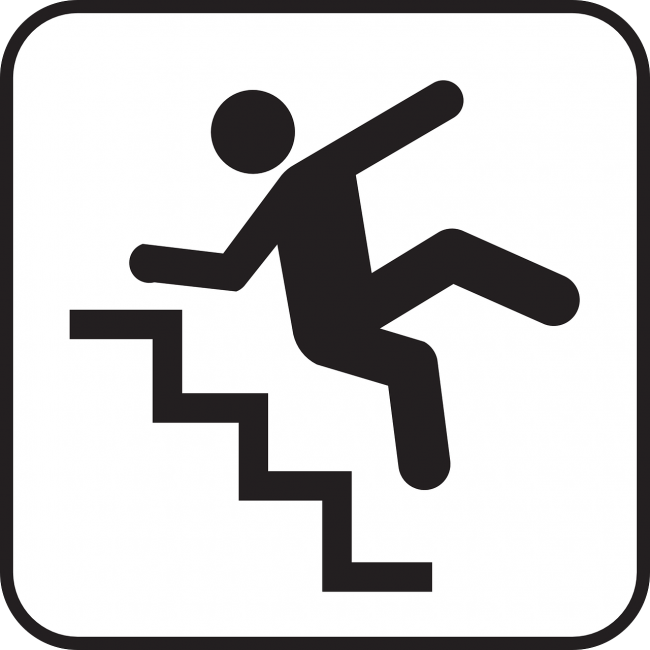 Falling stairs